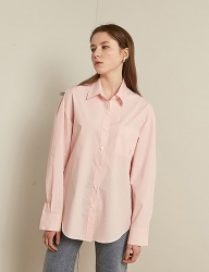 [TMO BY 13MONTH] SOLID COTTON SHIRT (LIGHT PINK)
