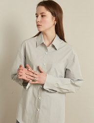 [TMO BY 13MONTH] SOLID COTTON SHIRT (SKY BLUE)