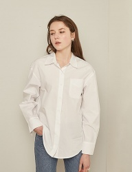 [TMO BY 13MONTH] SOLID COTTON SHIRT (WHITE)