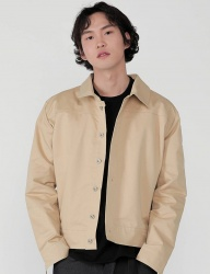 [REORG] POCKET COTTON JACKET BEIGE