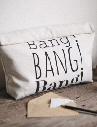 [WILD BRICKS] BANG CLUTCH BAG (canvas)