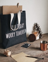 [WILD BRICKS] LTWT TOTE BAG (denim)