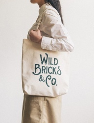 [WILD BRICKS] BIG LOGO ECO BAG (green)