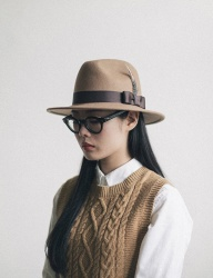 [WILD BRICKS] WOOL FEDORA (beige)