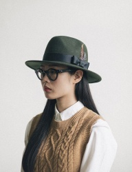 [WILD BRICKS] WOOL FEDORA (khaki)