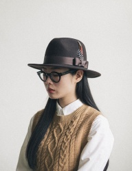 [WILD BRICKS] WOOL FEDORA (brown)