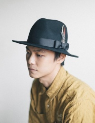 [WILD BRICKS] WOOL FEDORA (black)