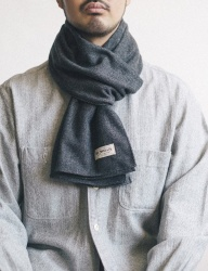 [WILD BRICKS] HERRINGBONE STOLE (light grey)
