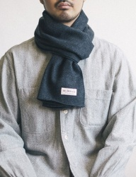 [WILD BRICKS] HERRINGBONE STOLE (dark grey)