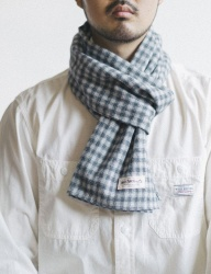 [WILD BRICKS] STRAW CHECK STOLE (grey)