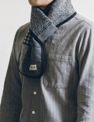 [WILD BRICKS] WOOL CR CHECK STOLE (grey)