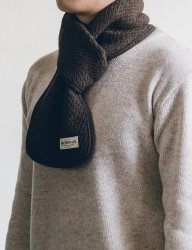 [WILD BRICKS] WOOL VIN STOLE (brown)