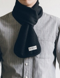 [WILD BRICKS] WOOL VIN STOLE (black)