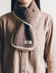 [WILD BRICKS] COTTON QUILTED STOLE (beige)