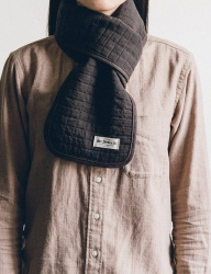 [WILD BRICKS] COTTON QUILTED STOLE (brown)
