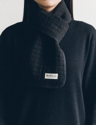 [WILD BRICKS] COTTON QUILTED STOLE (black)