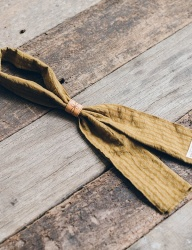[WILD BRICKS] CT STRIPE SCARF (mustard)