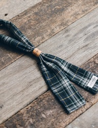 [WILD BRICKS] TARTAN CHECK SCARF (green)