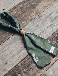 [WILD BRICKS] LEAF SCARF (green)