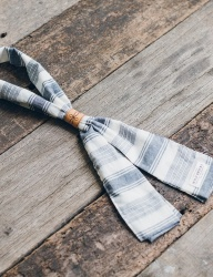 [WILD BRICKS] HORIZ SCARF (blue)