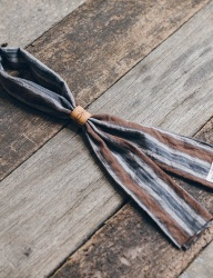 [WILD BRICKS] VIN STRIPE SCARF (brown)