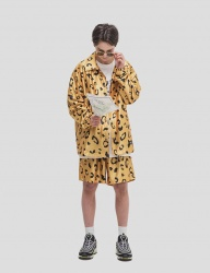 [WKNDRS] LEOPARD SHORTS (YELLOW)