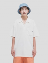 [WKNDRS] TOWEL COLLAR T-SHIRTS (IVORY)