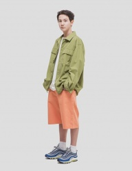 [WKNDRS] OVERSIZED CHINO SHORTS (CHORAL)