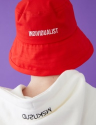 [MSKN2ND] INDIVIDUALIST BUCKET HAT RED