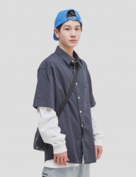 [WKNDRS] NANCY SHORT-SLEEVE SHIRTS (NAVY)