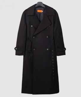 [DUCKDIVE] O.S.L TRENCH COAT_BLACK