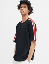 [GROOVERHYME] 2018 SLEEVE BLOCK T-SHIRTS OVER FIT [GTS025G23]