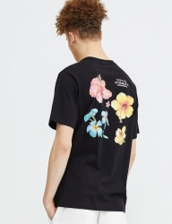 [GROOVERHYME] 2018 FLOWER PRINT T-SHIRTS [GTS047G23]