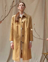 [TEAM SCULPTOR] ENAMEL LONG COAT [CAMEL]