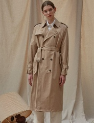 [TEAM SCULPTOR] CLASSIC TRENCH COAT [BEIGE]