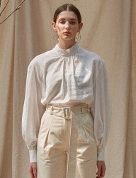 [TEAM SCULPTOR] TWO WAY PUFF BLOUSE [WHITE]