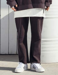 [STONYSTRIDE] NATURAL CUTTING SWEATPANTS [CHARCOAL BROWN]