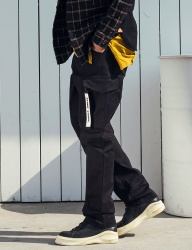 [STONYSTRIDE] REGULAR BAGGY CARGO PANTS P815 [BLACK]