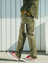 [STONYSTRIDE] REGULAR BAGGY CARGO PANTS P815 [KHAKI]