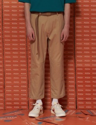 [UNALLOYED] HALF CUTTING CROP PANTS [BEIGE]