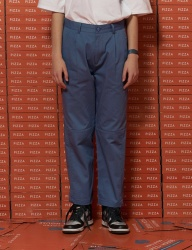 [UNALLOYED] HALF CUTTING CROP PANTS [BLUE]