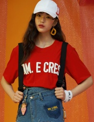 [DIM.E CRES.] BASIC LOGO T-SHIRTS_RED