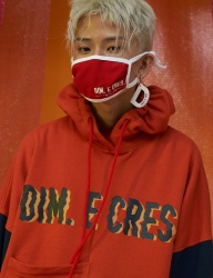 [DIM.E CRES.] DIM. E CRES. COTTON MASK_RED