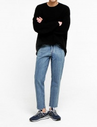 [FATALISM] middle bluestandard crop fit jeans