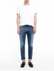 [FATALISM] basic washing slim crop jeans