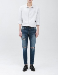 [FATALISM] ven dis cutting crop fit jeans