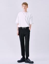 [VOIEBIT] V228 TOURS CROP SLACKS (BLACK)