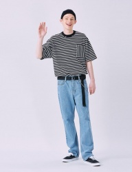 [VOIEBIT] V232 LIGHT NONE SPAN WIDE DENIM PANTS (LIGHT BLUE)