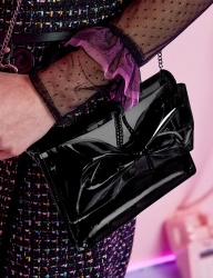 [VVV] VVV BLACK PVC RIBBON CROSS BAG