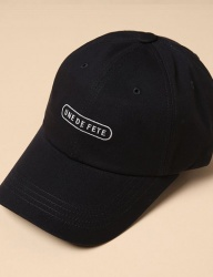 [uniere] Fete Cotton Cap (black)
